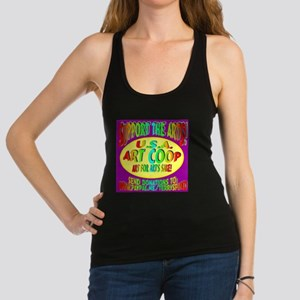 Support the Arts! USA Art Coop Racerback Tank Top