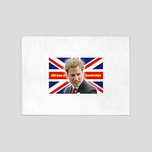 HRH Duke of Cambridge 5'x7'Area Rug