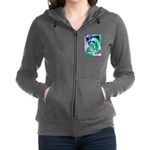President Ronald Reagan Pop Art Women's Zip Hoodie