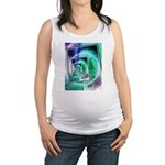 President Ronald Reagan Pop Art Maternity Tank Top