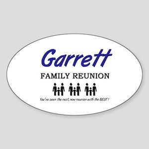 Garrett Family Reunion Oval Sticker
