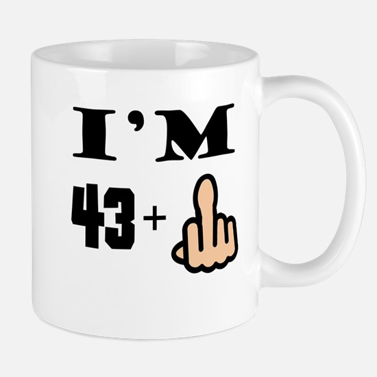 Middle Finger 44th Birthday Mugs