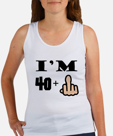 Middle Finger 41st Birthday Tank Top