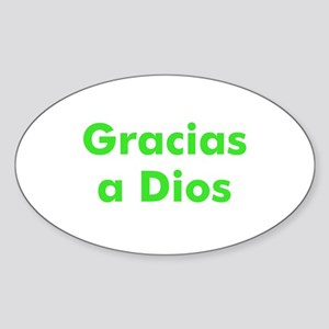 Gracias a Dios Oval Sticker