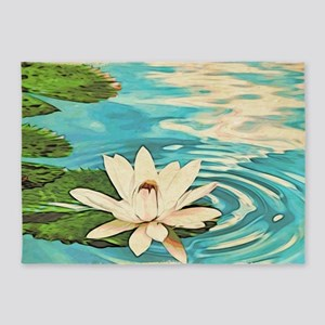Lotus Flower 5'x7'Area Rug