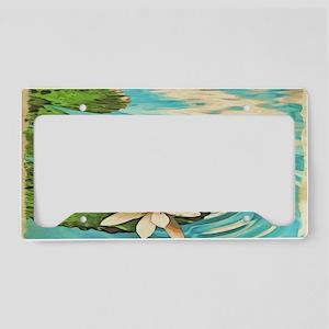 Lotus Flower License Plate Holder