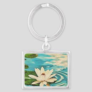 Lotus Flower Landscape Keychain