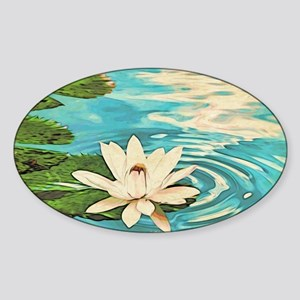 Lotus Flower Sticker (Oval)