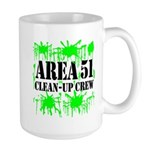 Area 51 Clean-Up Crew Large Mug
