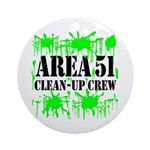 Area 51 Clean-Up Crew Ornament (Round)