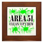 Area 51 Clean-Up Crew Framed Tile