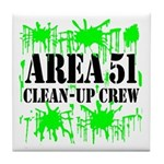 Area 51 Clean-Up Crew Tile Coaster