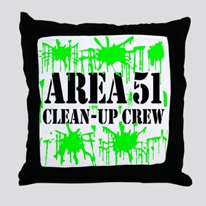 Area 51 Clean-Up Crew Throw Pillow