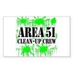 Area 51 Clean-Up Crew Rectangle Sticker