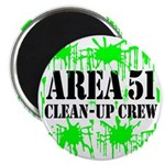 Area 51 Clean-Up Crew Magnet
