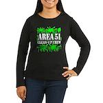 Area 51 Clean-Up Crew Women's Long Sleeve Dark T-S
