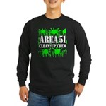 Area 51 Clean-Up Crew Long Sleeve Dark T-Shirt