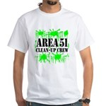 Area 51 Clean-Up Crew White T-Shirt