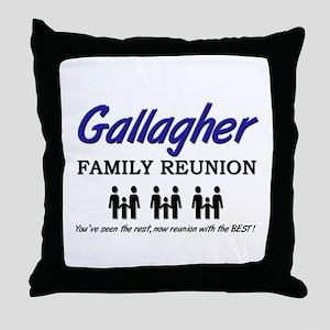 Gallagher Family Reunion Throw Pillow