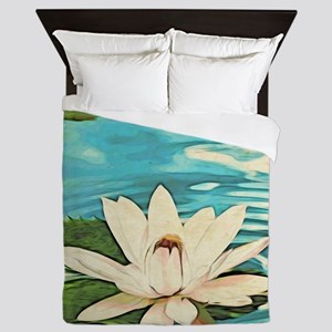 Lotus Flower Queen Duvet