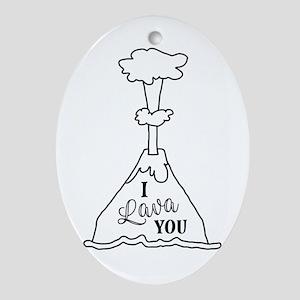 I Lava You Oval Ornament