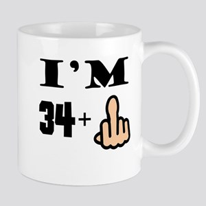 Middle Finger 35th Birthday Mugs