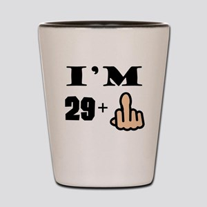 Middle Finger 30th Birthday Shot Glass