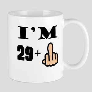 Middle Finger 30th Birthday Mugs