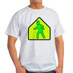 Alien Crossing/AlienShack Logo Light T-Shirt