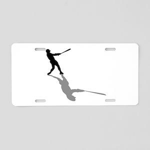 Baseball Batter Aluminum License Plate