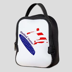 United States boarding logo Neoprene Lunch Bag