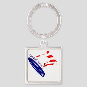 United States boarding logo Keychains