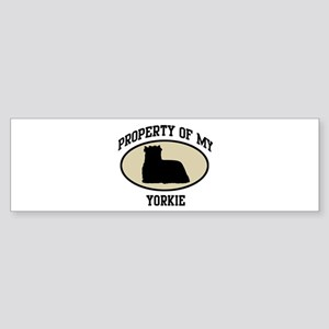 Property of Yorkie Bumper Sticker