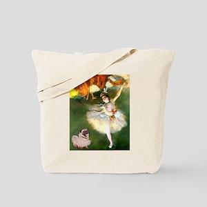 Degas Dancer & Pug in Tutu Tote Bag