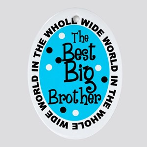 Big Bro Ornament (oval)