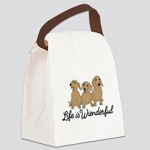 Life is Wienderful Canvas Lunch Bag