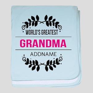 World's Greatest Grandma Custom Name baby blanket