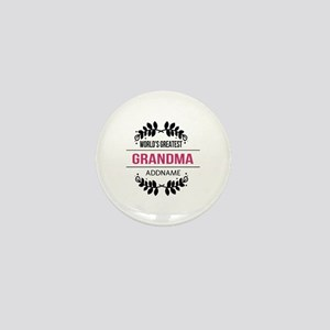 World's Greatest Grandma Custom Name Mini Button