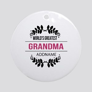 World's Greatest Grandma Custom N Ornament (Round)