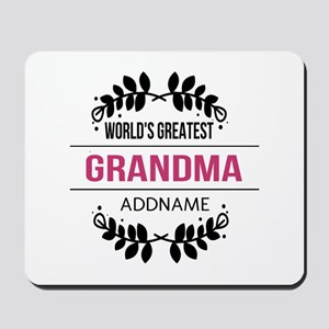 World's Greatest Grandma Custom Name Mousepad