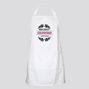 World's Greatest Grandma Custom Name Apron