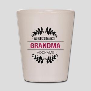 World's Greatest Grandma Custom Name Shot Glass