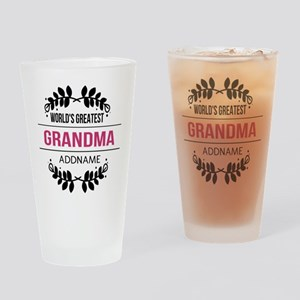 World's Greatest Grandma Custom Nam Drinking Glass