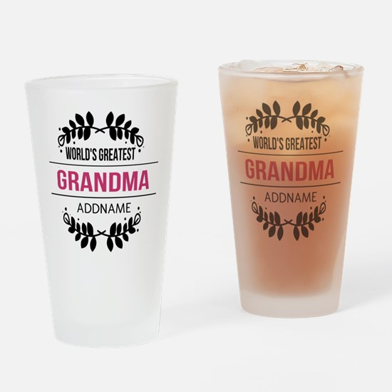 World's Greatest Grandma Custom Nam Drinking Glass