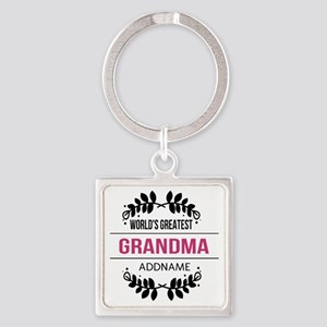 World's Greatest Grandma Custom Na Square Keychain