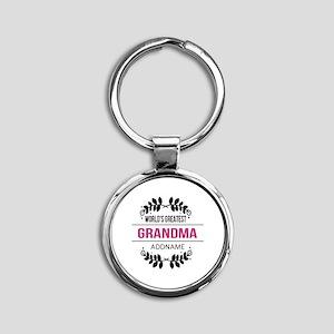 World's Greatest Grandma Custom Nam Round Keychain