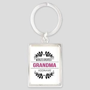 World's Greatest Grandma Custom Portrait Keychain