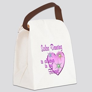 Salsa Heart Canvas Lunch Bag