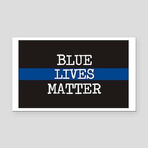 Blue Lives Matter Rectangle Car Magnet
