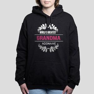 Worlds Greatest Grandma Custom Name Women's Hooded